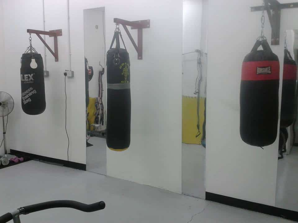 gym with punch bags