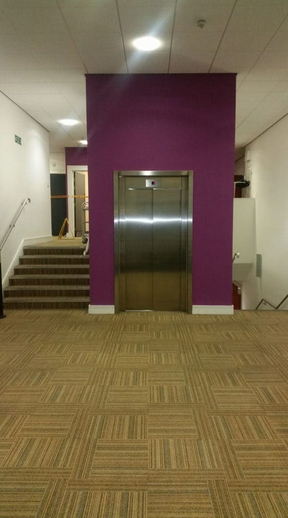 elevator surround at Bridlington Spa painted