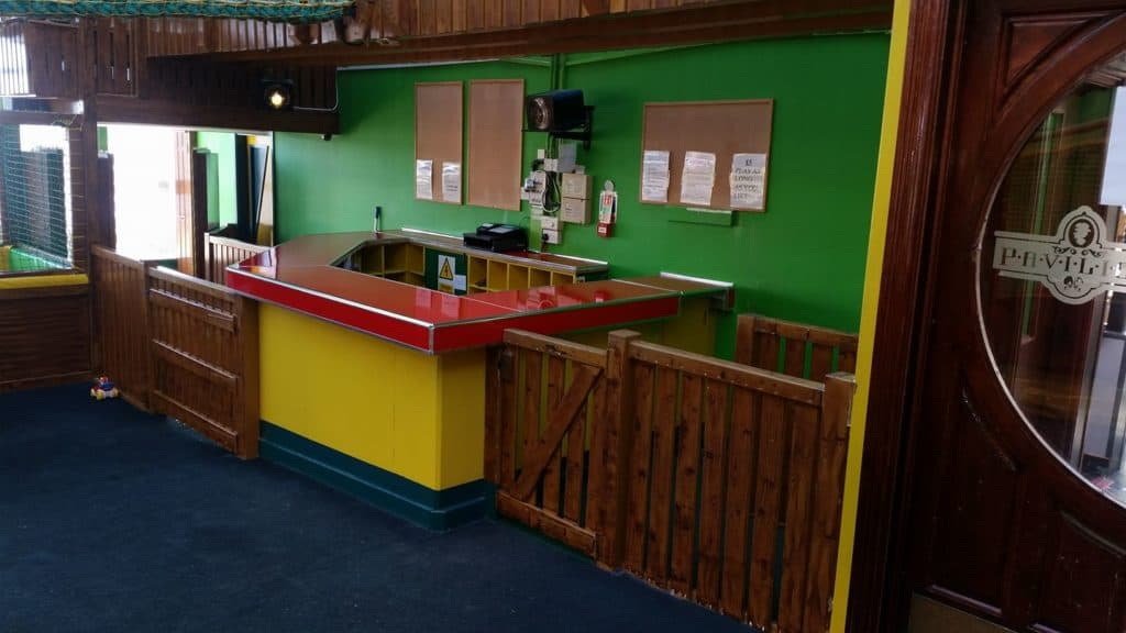 counter at childrens' play area