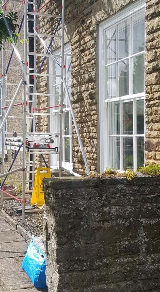 scaffolding outside a house