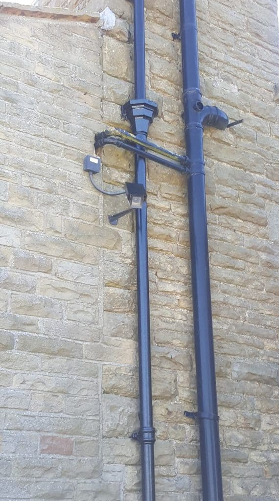 painted drainpipes
