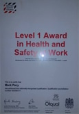 british safety council level 1 certificate