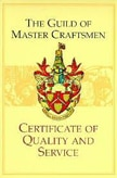 the guild of master craftsmen certificate of quality and service
